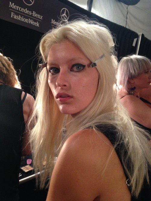 Backstage at NYFW - Photo by Janna Mandell